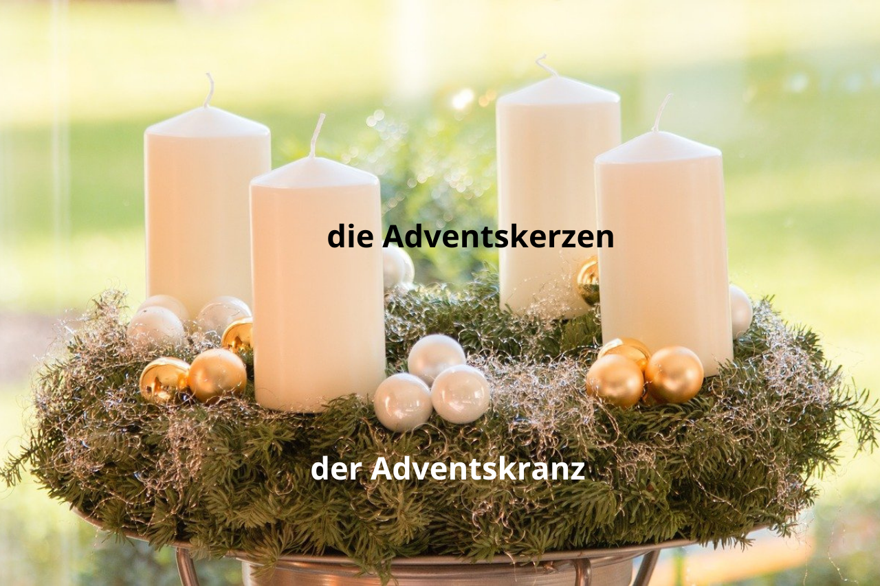 Adventskranz mit Adventskerzen